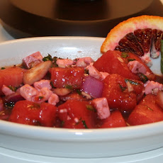 Watermelon, Feta and Mint Salad with Blood Orange Vinaigrette