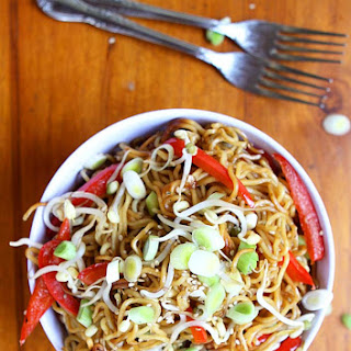 Garlic Sesame Crispy Pan Fried Noodles