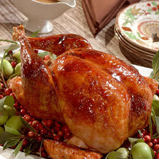Cranberry-Glazed Turkey with Cranberry-Cornbread Stuffing