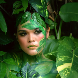 Green Nature Women by Cibi Regard - People Body Art/Tattoos