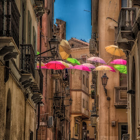 Umbrellas by Antonello Madau - City,  Street & Park  Historic Districts