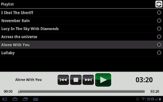 Screenshot of Backing Track Player