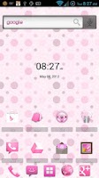 Screenshot of MissDroid PrettyPink ADW Theme