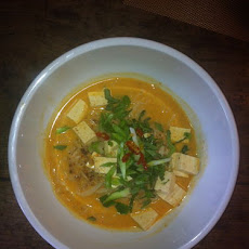 Spicy Tofu Coconut Noodle Soup