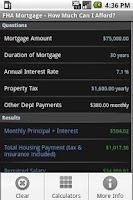 Screenshot of FHA Loan Calculator