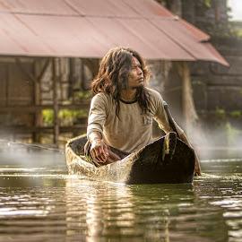 The Lake Fisherman by Ade Irgha - People Portraits of Men ( explore bali, kintamani, batur, lake, fisherman )