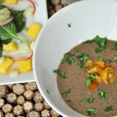 Curried Coconut Black Bean Soup