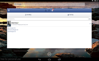 Screenshot of FWidget for Facebook