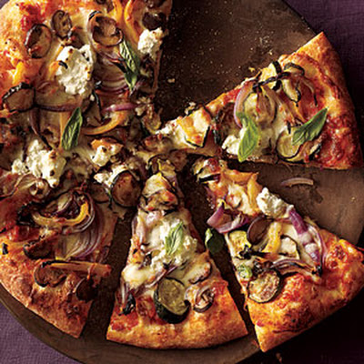 Roasted Vegetable and Ricotta Pizza