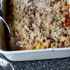 Peach and Pecan Sandy Crumble