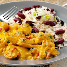 Caribbean Chicken Curry with Rice and Peas