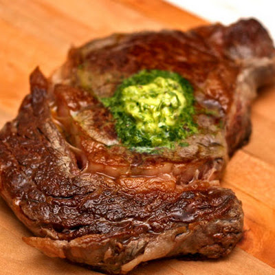 Steak with Anchovy Butter