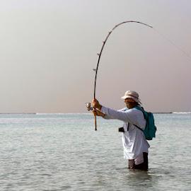 Jigging the Red Sea by Deon Warrington - People Portraits of Men ( red. sea )