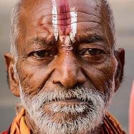 Damodar Garu by Rakesh Syal - People Portraits of Men