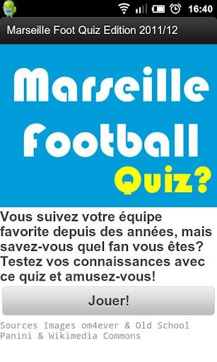 Marseille Football Quiz