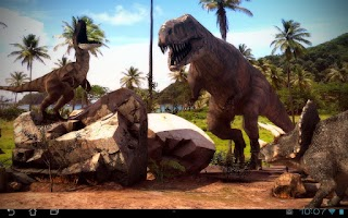 Screenshot of Dinosaurs 3D Pro lwp