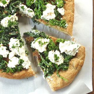 Broccoli Rabe & Cashew Ricotta White Pizza