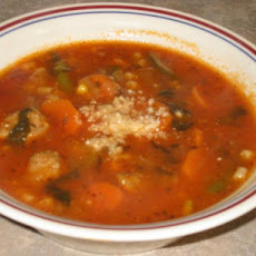 Kittencal's Mini Meatball Minestrone Soup