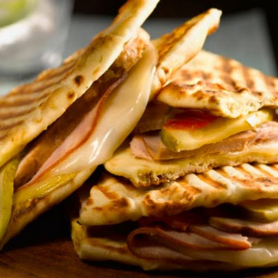 Spicy Cuban Naan Panini