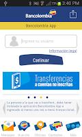 Screenshot of Bancolombia App