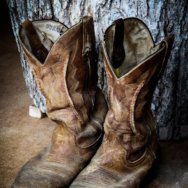 Country Living by Tasha Ragel Dial - Artistic Objects Clothing & Accessories ( farm, shoes, rustic, boots, country, artistic, object )