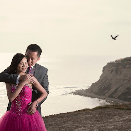 This Evening by Yansen Setiawan - Wedding Other ( creative, art, losangeles, illusion, love, fineart, yansensetiawanphotography, prewedding, d800, wedding, lifestyle, la, photographer, yansensetiawan, nikon, yansen, pink dress, engagement )