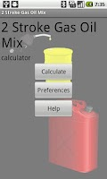 Screenshot of 2 Stroke Gas Oil Mix Calc