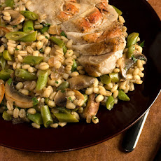 Barley with Mushrooms and Green Beans Recipe
