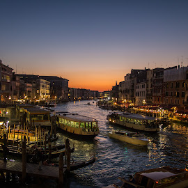 Venice traffic by Michael Strier - Landscapes Travel ( sunset, grand canal, venice, venizia, canal, italy,  )