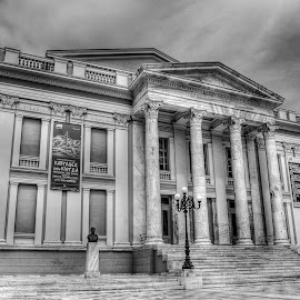 Municipality theater of Piraeus by Sergios Georgakopoulos - Buildings & Architecture Public & Historical ( b&w, hdr, piraeus, greece, theater )