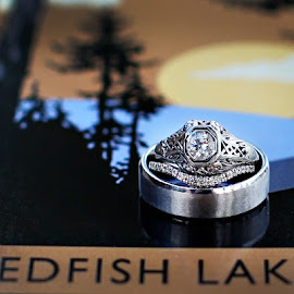 Redfish Lake Wedding Rings by Kristin Cheatwood - Wedding Details ( redfish lake, wedding, rings, wedding rings, object, artistic, jewelry )