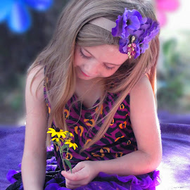 Summer Purple Splash  by Viktoria    Shawn  - Babies & Children Children Candids