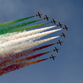 Frece Tricolori by Catalin Necula - Transportation Airplanes ( flying, aviation, sky, frece tricolori, transportation )