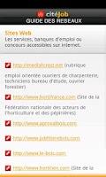 Screenshot of citéJob - Guide des réseaux