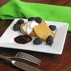 Lemon Buccellato with Blackberry Sauce & Vin Santo