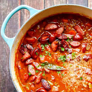 Lentil Soup Recipe with Parmesan and Smoked Sausage