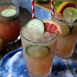 Grapefruit Margaritas with a hint of cucumber