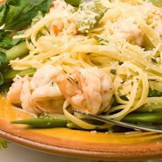 Prawn Linguine with Sugar Snap Peas