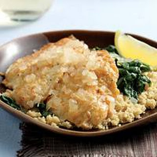 Sole Florentine with Couscous