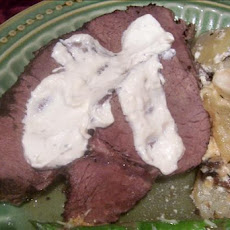 Crock Pot Roast Beef and Horseradish Sauce