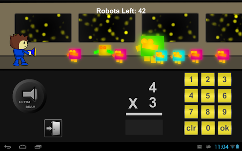 Robot Math Defense Game - screenshot
