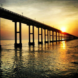 India's longest sea link @ Rasmeswaram by Maheshwaran S - Buildings & Architecture Bridges & Suspended Structures