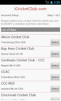 Screenshot of iCricketClub.com