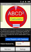 Screenshot of ABCD2 TIAs Scorings