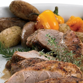 Herbed Pork Tenderloin with Oven Roasted Potatoes