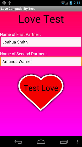 Love Compatibility Test Free