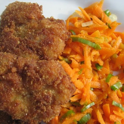 Fried Sweetbreads with Carrot Salad