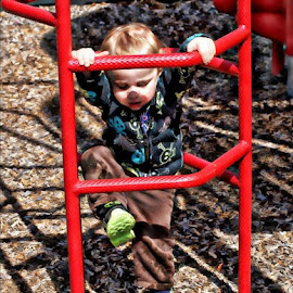 I Can Do It by Rhonda Musgrove - Babies & Children Toddlers ( child, climb, park, baby, toddler, boy, kid )