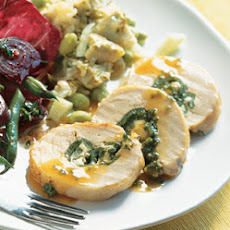 Turkey Breast Roulade with Green Chiles and Feta
