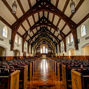 Sanctuary by Dave Clark - Buildings & Architecture Places of Worship ( mo, hdr, wood, church, kansas city, st. andrews, sanctuary, building, interior, worship,  )